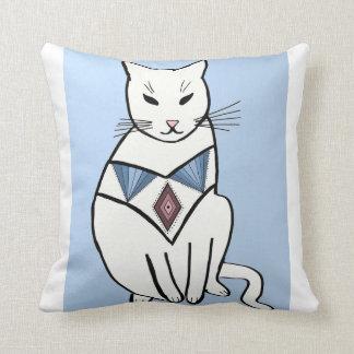 Cat with Diamond Collar Cushion