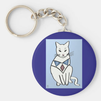 Cat with Diamond Collar Key Ring