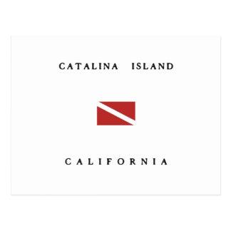 Catalina Island California Scuba Dive Flag Postcard