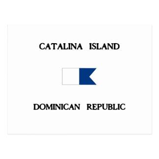 Catalina Island Dominican Republic Alpha Dive Flag Postcard