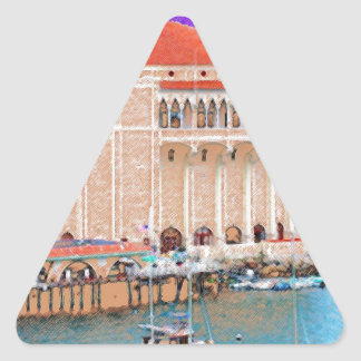 Catalina Island Triangle Sticker