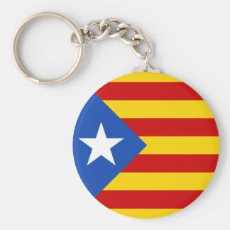 Catalonia Estrellada Flag Keychain