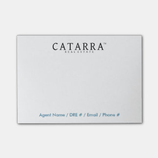 Catarra Post-It Notes w/ Agent Contact Info