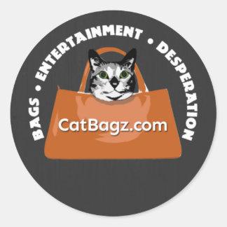 CatBagz - Bags * Entertainment * Desperation Classic Round Sticker