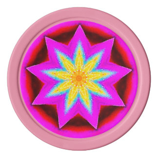 Catch a Falling Star Fractal Poker Chips