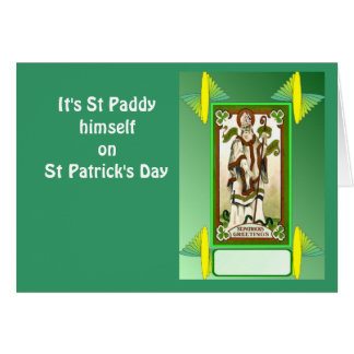Catch the shamrock on St Patrick's Day Card
