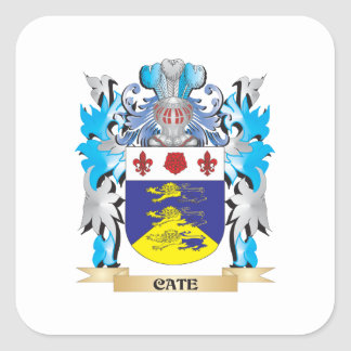 Cate Coat of Arms - Family Crest Square Sticker