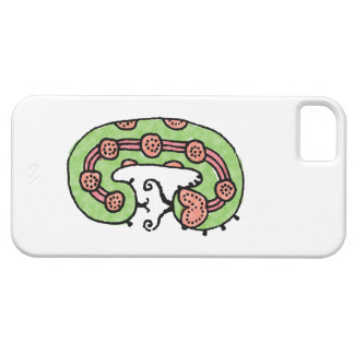 Caterpillar Dreaming (grn/wht) Case For The iPhone 5