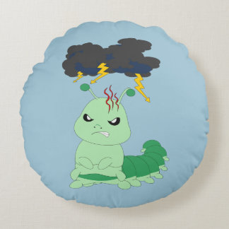 "Caterpillar - Round Throw Pillow (16"")"
