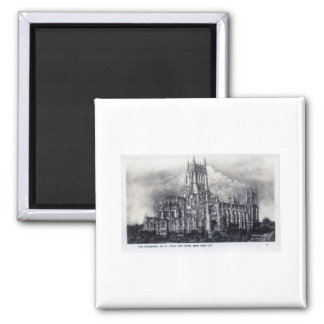 Cathedral of St. John the Divine, NYC Vintage Magnet
