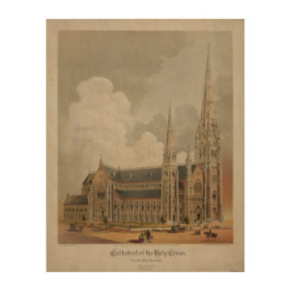Cathedral of the Holy Cross Boston Mass 1871 Wood Canvas