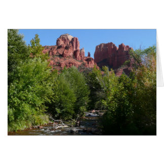 Cathedral Rock and Stream in Sedona Arizona Greeting Card