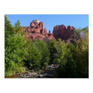 Cathedral Rock and Stream in Sedona Arizona Postcard