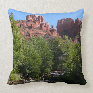 Cathedral Rock and Stream in Sedona Arizona Throw Cushions