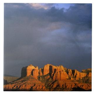 Cathedral Rocks in Sedona Arizona Ceramic Tile