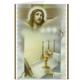 Catholic Mass Jesus Altar Offering Card