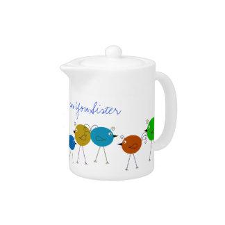 Catholic Nun Silver Jubilee Teapot Gift
