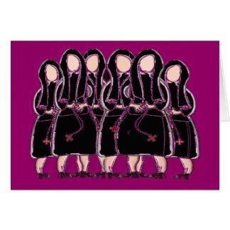 Catholic Nuns Note Cards Black Habits II