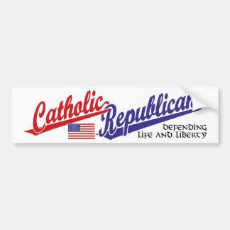 Catholic Republican Bumper Sticker