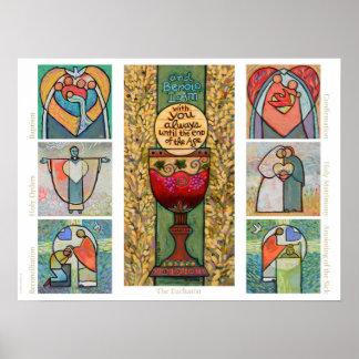 Catholic Sacraments Classroom Poster