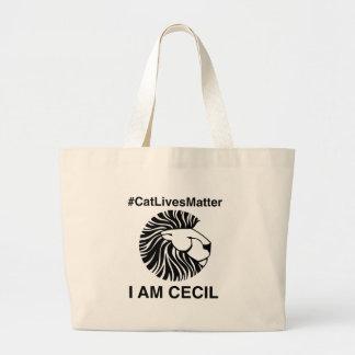 #CatLivesMatter Plain Tote Bag.