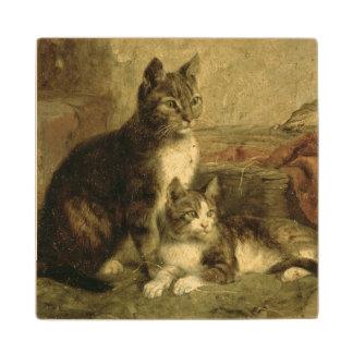 Cats, 1883 wood coaster