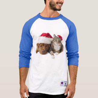 Cats and dogs - Christmas cat - christmas dog T-Shirt