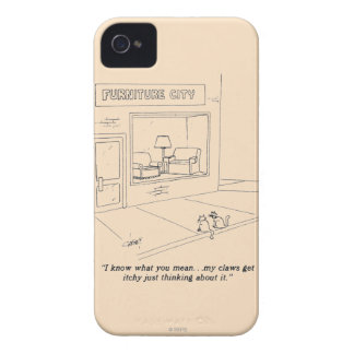 Cats Clawing Furniture iPhone 4 Cover