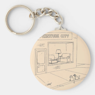 Cats Clawing Furniture Key Ring