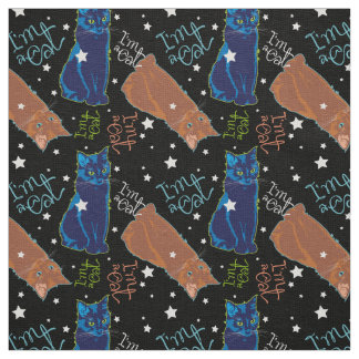 Cats don't sleep at night! fabric