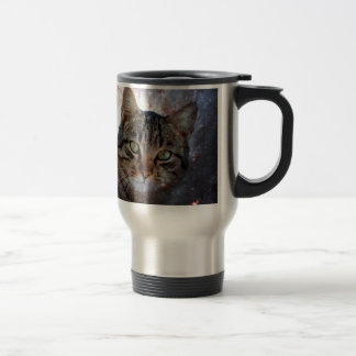 Cats in Space Stainless Steel Travel Mug