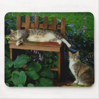 Cats in the Garden Mouse Pad