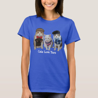 Cats/Kitties Love Yarn T-Shirt