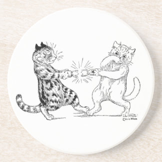 Cats Pulling Cracker Drink Coasters