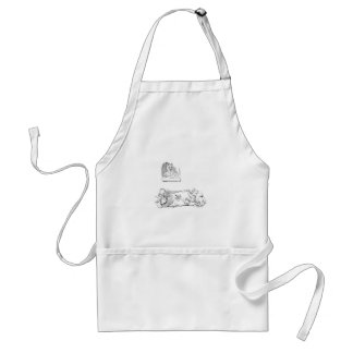 Cats With Squirt Get Comeuppance Standard Apron