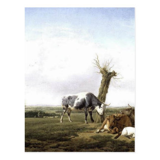 Cattle and Goats in a Meadow Adriaen van de Velde Postcard