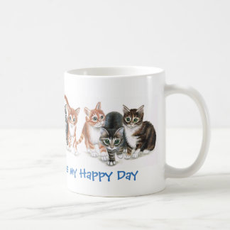 Caturday is my Happy Day, featuring kittens, mug