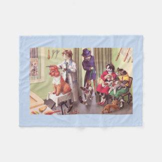 CATWALKS: Bulldog at the Barbers - Fleece Blanket