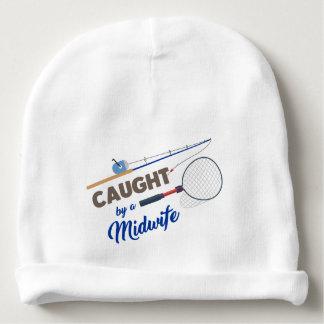 """Caught by a Midwife"" Fishing Beanie Cap Baby Beanie"