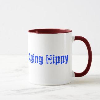Caution Aging Hippy Coffee Mug