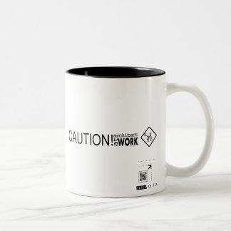Caution Architect at Work Two-Tone Coffee Mug