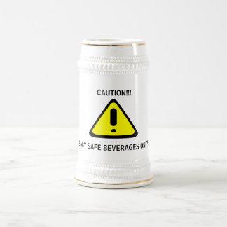 Caution Baby Safe Beverages Beer Steins