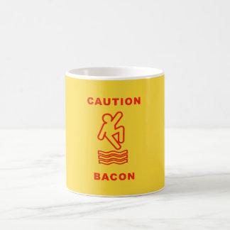 CAUTION BACON COFFEE MUGS