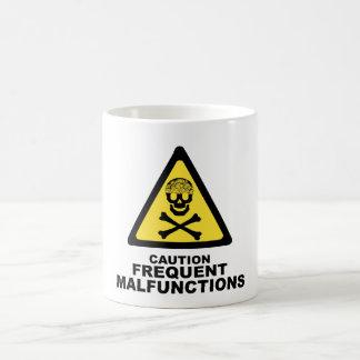 Caution Brain Basic White Mug
