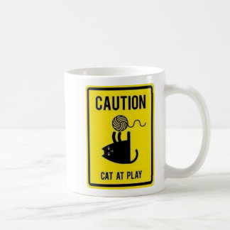 Caution Cat and play Mug