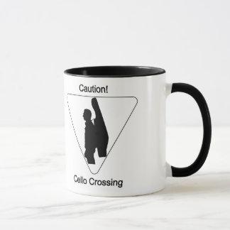 Caution! Cello Crossing Mug