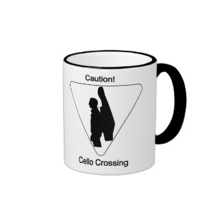 Caution! Cello Crossing Ringer Mug