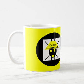 Caution Coffee Mug by SkullnSkinTM