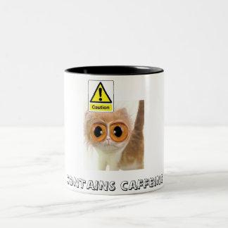 Caution: Contains Caffeine Two-Tone Mug