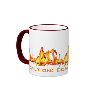Caution:  Contents Hot! Ringer Mug